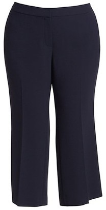 Lafayette 148 New York, Plus Size Finesse Crepe Cropped Manhattan Flare Pants