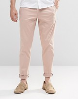Asos Skinny Smart Chinos In Light Pink