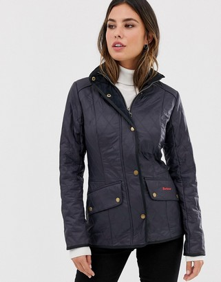 Barbour Cavalry Polarquilt jacket with fleece lining in navy