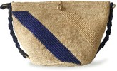 Maraina London Annabel Raffia Crocheted Beach Bag - Natural & Blue