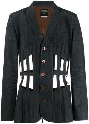 Jean Paul Gaultier Pre Owned Cage Design Denim Jacket