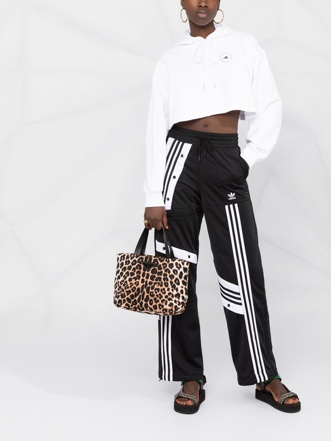 Thumbnail for your product : adidas by Stella McCartney Logo-Print Cropped Hoodie