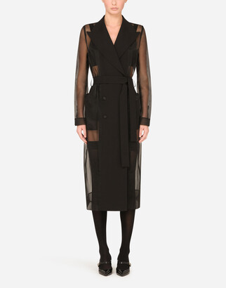 Dolce & Gabbana Belted Double-Breasted Wool Coat