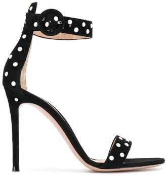 Gianvito Rossi pearl embellished stiletto sandals