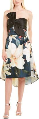 Marchesa Silk-Blend Cocktail Dress