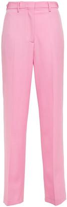 MSGM Grain De Poudre Wool Straight-leg Pants
