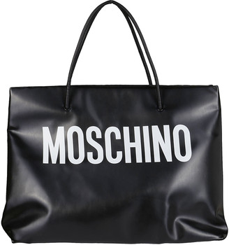 Moschino Black And White Oversized Tote Bag