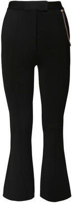 Givenchy High Waist Flared Pants W/ Chain
