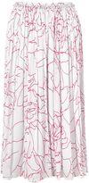 Jigsaw Floral Contour Crinkle Skirt