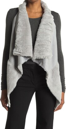 Coffee Shop Faux Fur Vest