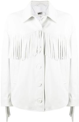 MM6 MAISON MARGIELA Western lambskin leather jacket