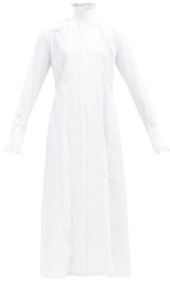 Paco Rabanne High-neck Cotton-poplin Midi Shirt Dress - White