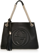 Gucci Soho Medium Textured-leather Shoulder Bag - Black