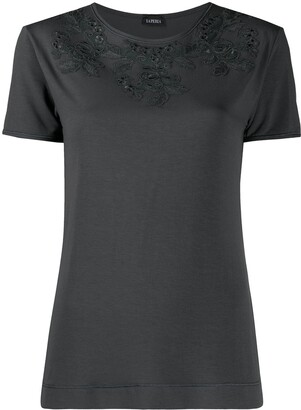 La Perla floral-appliqued T-shirt