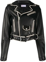 RED Valentino contrasting piping cropped jacket