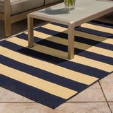 Christopher Knight Home Roxanne Avery Indoor/Outdoor Navy Stripe Rug (8' x 10')