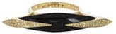Maiyet 18K Yellow Gold, 0.12 Total Ct. Diamond & Black Horn Dagger Slice Cocktail Ring