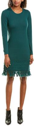 Trina Turk Over Ice Wool Sweaterdress