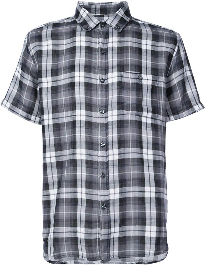 Michael Bastian short sleeve plaid shirt