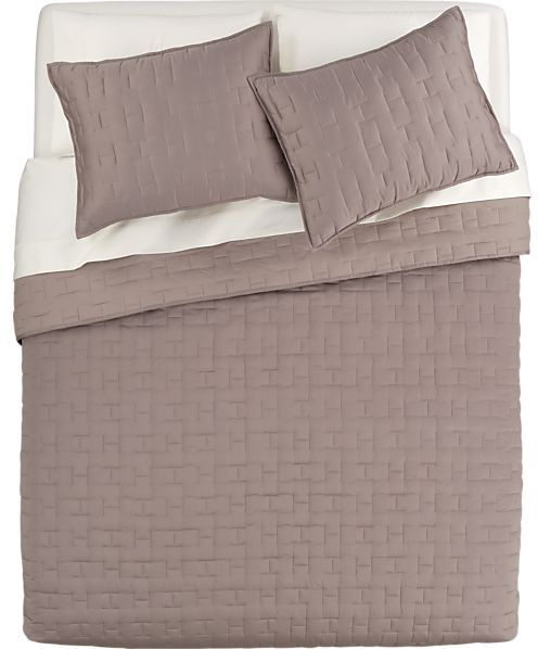 Crate & Barrel Anujah Mink Bed Linens