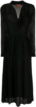 Missoni wrap front V-neck knit dress
