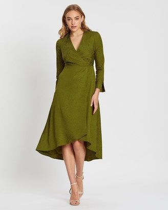 Closet London A-Line Midi Wrap Dress