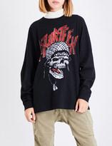 R 13 Battle Punk cotton-jersey sweatshirt