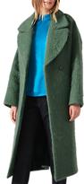 Jigsaw Fluffy Wool Mohair Cocoon Coat, Green Moss