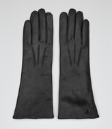 Reiss Orchid LEATHER GLOVES