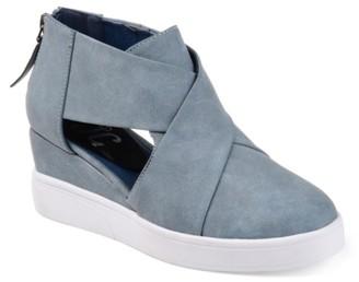 Journee Collection Seena Wedge Sneaker