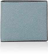 Valextra Men's Leather Billfold-LIGHT BLUE