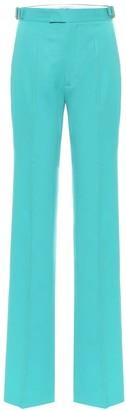 ATTICO High-rise stretch-wool pants