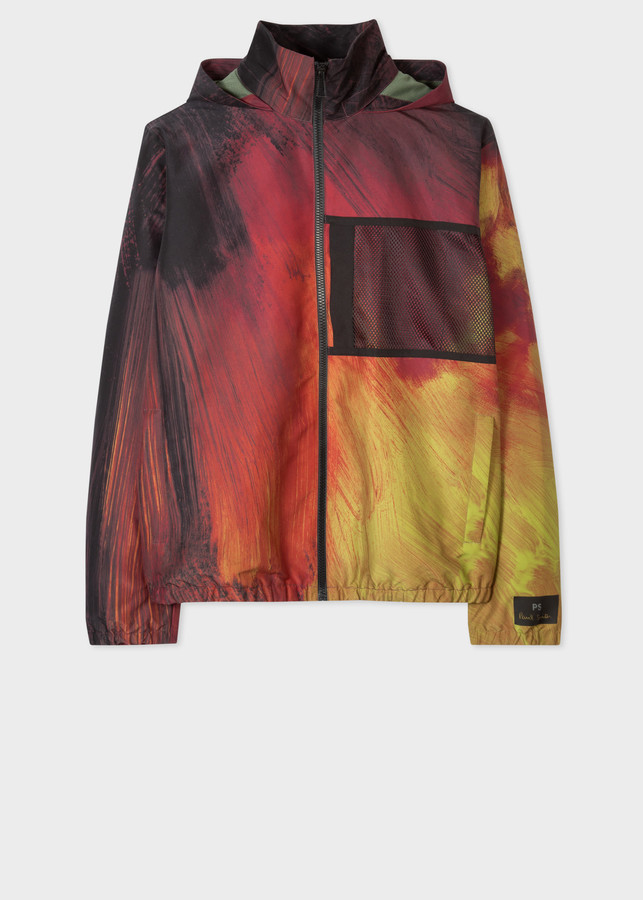 Paul Smith Men's Red 'Brush Stroke' Print Track Jacket