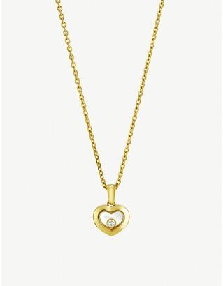 Chopard Happy Diamonds Icons 18ct yellow-gold and diamond pendant