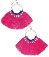INC International Concepts I.n.c. Gold-Tone Colored Bead & Tassel Drop Earrings, Created for Macy's