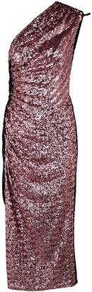 16Arlington 16 Arlington Rogers One-shoulder Sequin Midi Dress