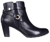 Anne Klein Womens Chelsey Leather Almond Toe Ankle Fashion Boots.