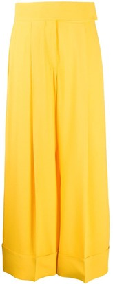 Sara Battaglia High-Waisted Wide Leg Trousers