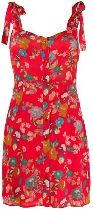 Andamane Floral Buttoned Mini-Dress