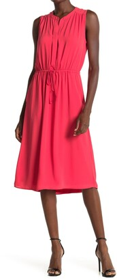 Dr2 By Daniel Rainn Sleeveless Tie Waist Dress
