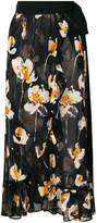L'Autre Chose floral print wrap midi skirt