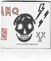 Alexander McQueen Men's Doodle-Print Billfold