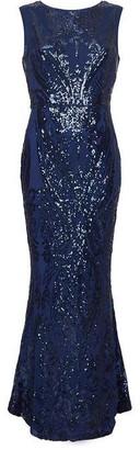 Yumi Embellished Sparkle Maxi Dress