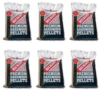 Camp Chef Smoker Grill Premium Hickory BBQ Hardwood Pellets, 20 lbs (6 Pack)