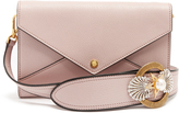 Miu Miu Embellished-strap grained-leather envelope bag