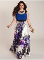IGIGI Ariadna Plus Size Gown in Sapphire/Black