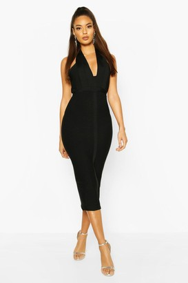boohoo Boutique Bandage Plunge Midi Dress