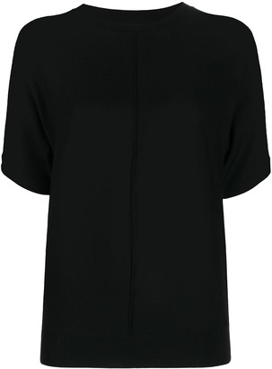Closed Pleat Detail Knitted Top