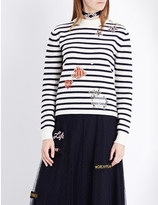 RED Valentino Maglia striped wool jumper