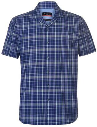 Pierre Cardin Reverse Check Short Sleeve Shirt Mens